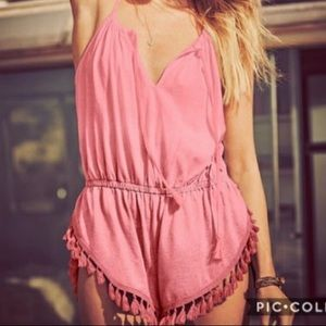 Pink Romper with tassels
